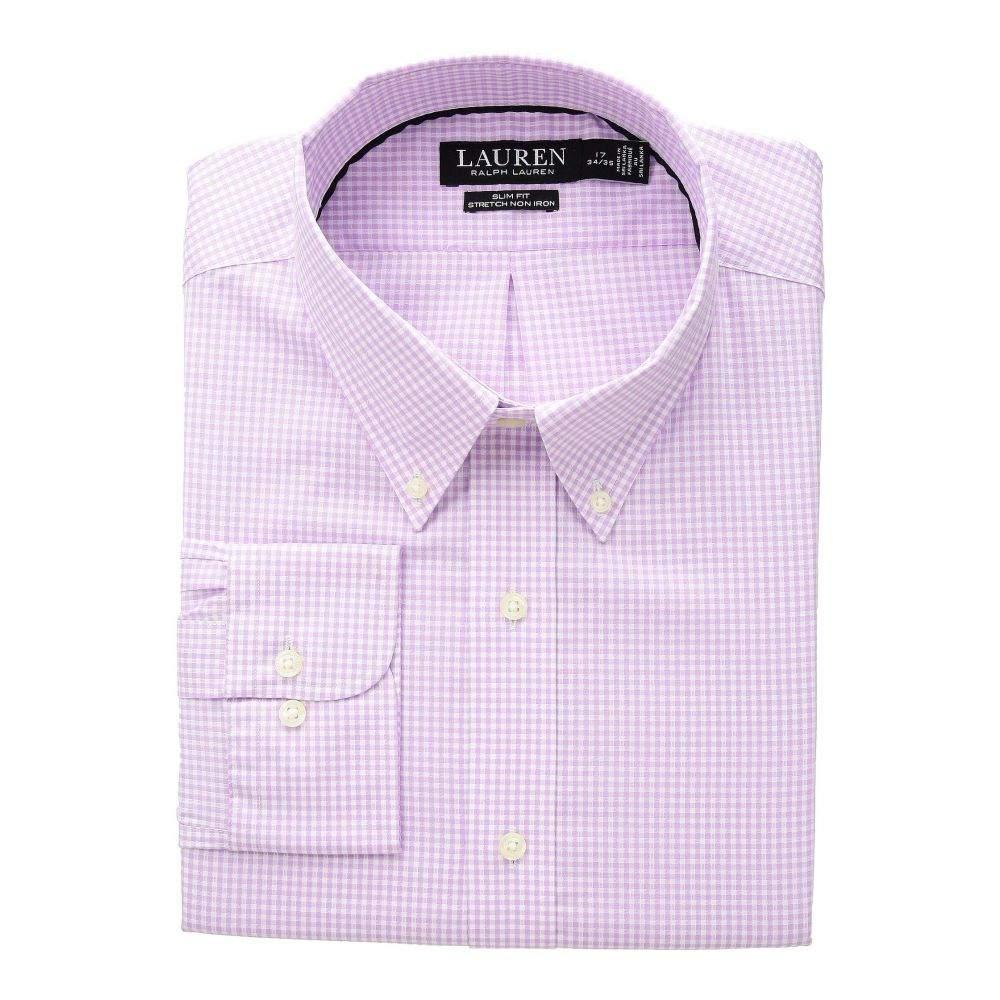 ラルフ ローレン LAUREN Ralph Lauren メンズ トップス シャツ【Slim Fit No-Iron Gingham Dress Shirt】Dusty Pink/White