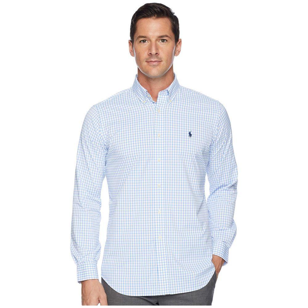 ラルフ ローレン Polo Ralph Lauren メンズ トップス シャツ【Classic Fit Performance Woven Sports Shirt】White/Oceanus Blue