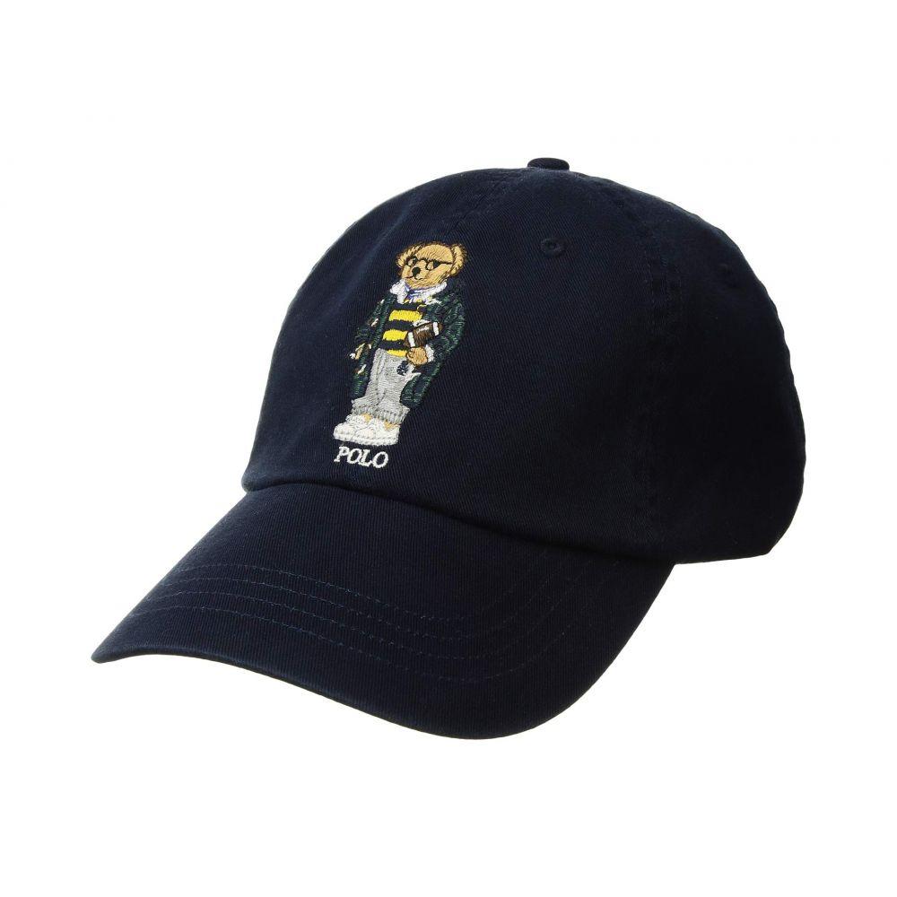 ラルフ ローレン Polo Ralph Lauren メンズ 帽子 キャップ【Cotton Chino Hat】Aviator Navy w/ Bear