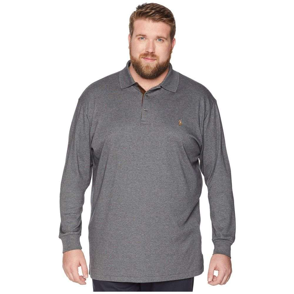 ラルフ ローレン Polo Ralph Lauren メンズ トップス ポロシャツ【Big & Tall Long Sleeve Soft Touch Polo】Fortress Grey Heather