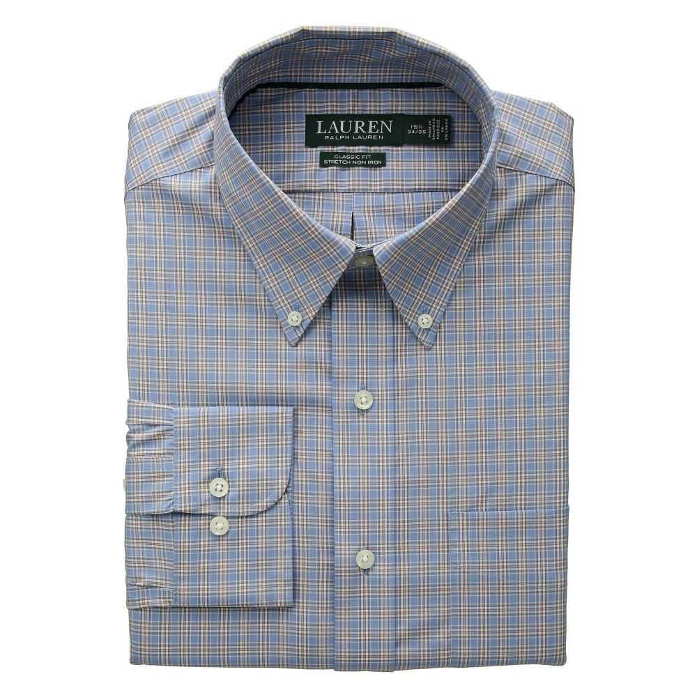 ラルフ ローレン LAUREN Ralph Lauren メンズ トップス シャツ【Classic Fit Non Iron Stretch Poplin Dress Shirt】Pastel Blue/Beige