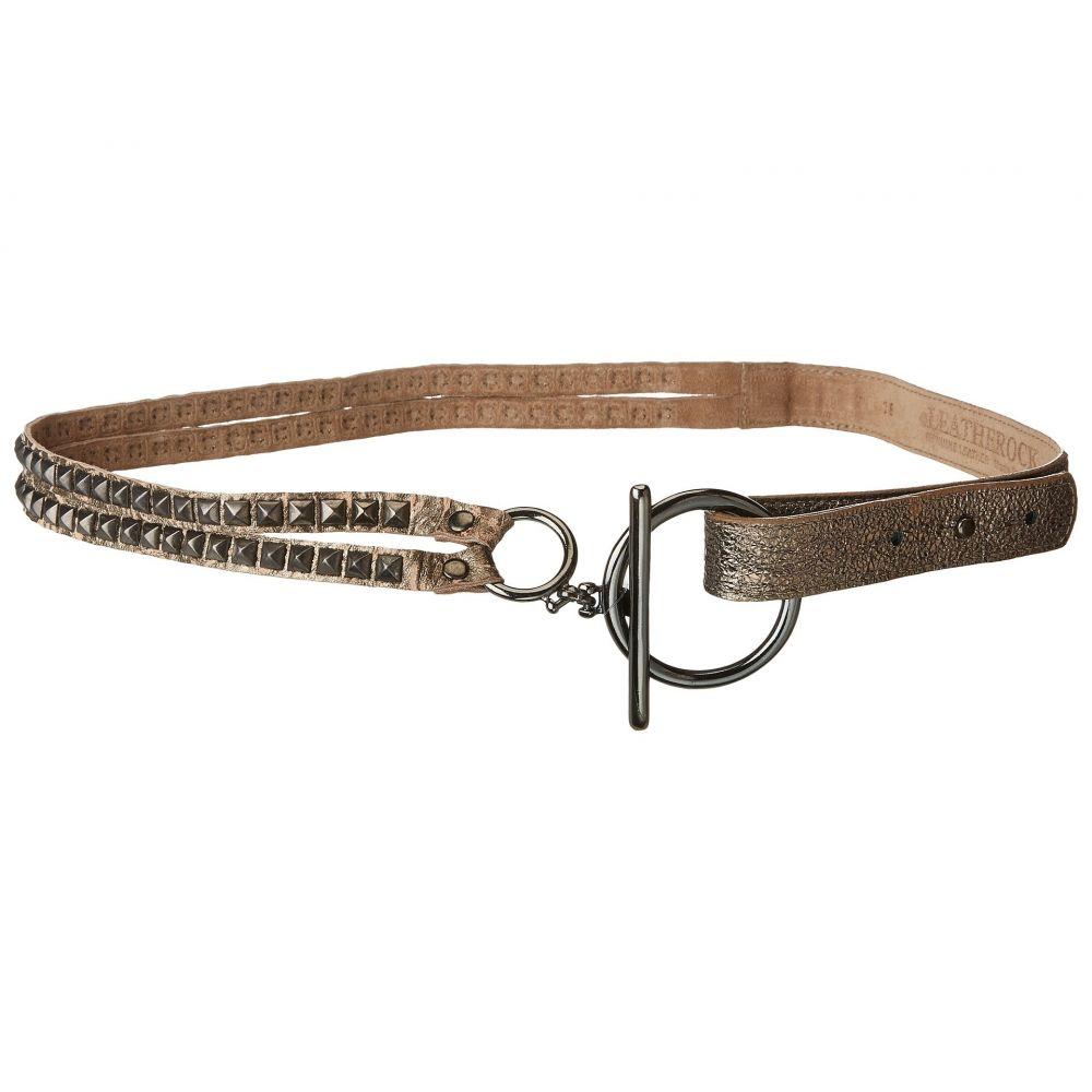 レザロック Leatherock レディース ベルト【Roxy Belt】Pewter