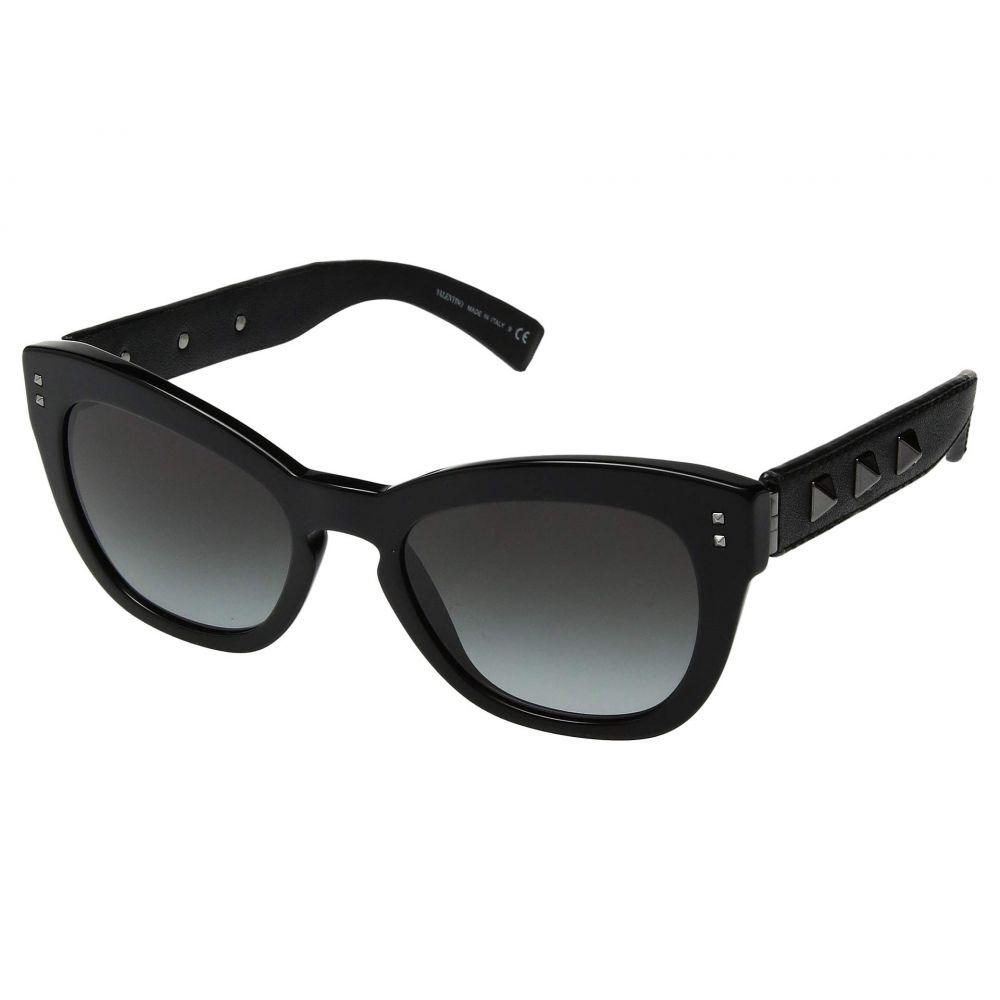 ヴァレンティノ Valentino レディース メガネ・サングラス【0VA4037】Black/Black Leather/Smoke Gradient