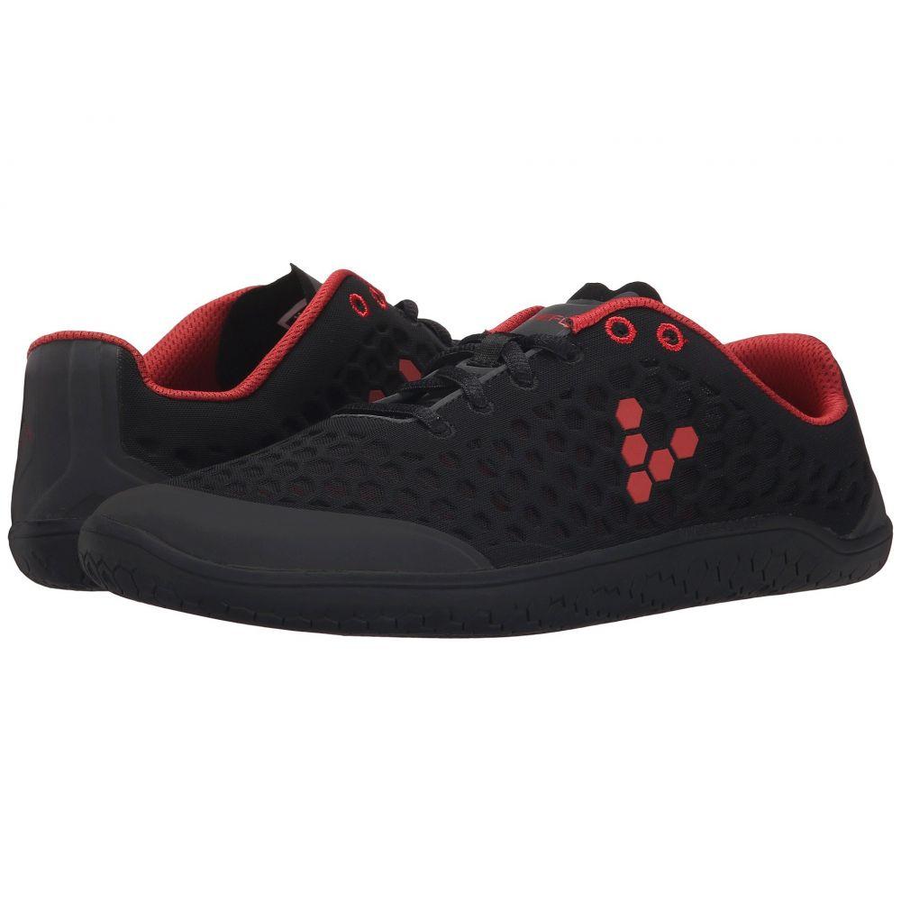 ヴィヴォ ベアフット Vivobarefoot メンズ ランニング・ウォーキング シューズ・靴【Stealth II】Black/Red