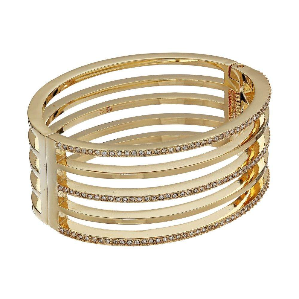 ヴィンス カムート Vince Camuto レディース ジュエリー・アクセサリー ブレスレット【Crystal Pave and Metal Hinge Bangle Bracelet】Gold