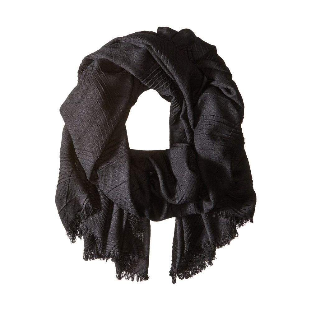 エコー Echo Design レディース マフラー・スカーフ・ストール【Pleated Milk Made Blanket Wrap】Black