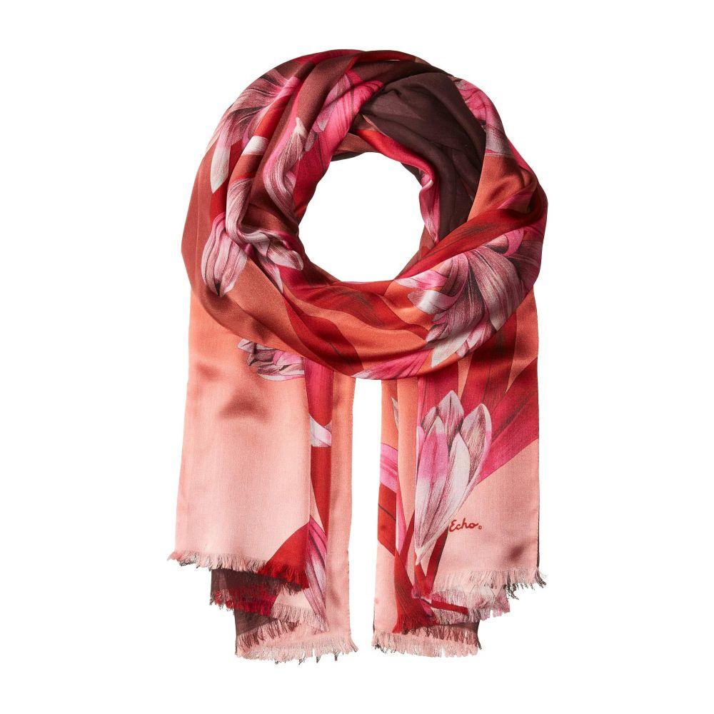 エコー Echo Design レディース マフラー・スカーフ・ストール【Cascading Floral Double-Faced Wrap】Garnet