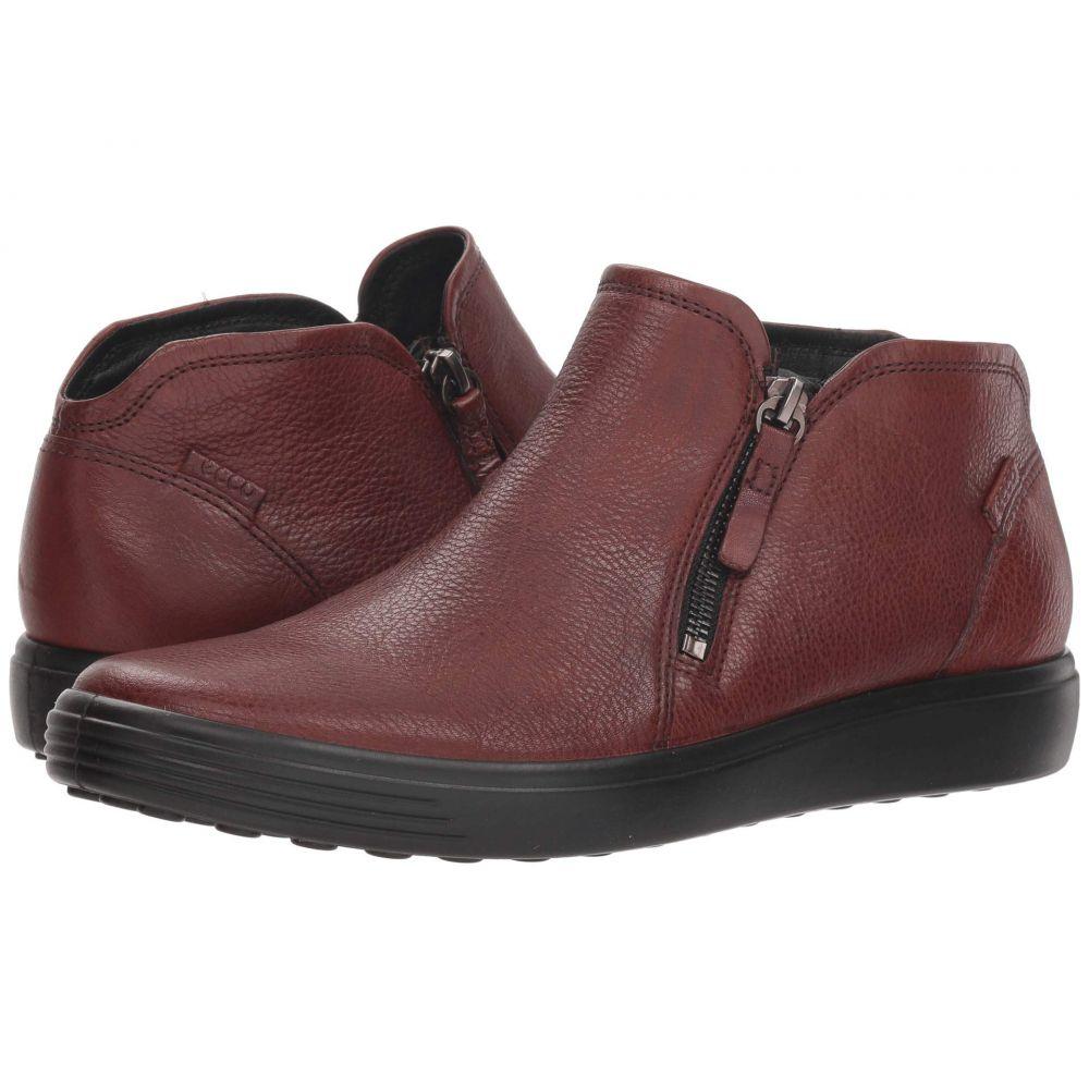 エコー ECCO Leather レディース シューズ・靴 7 スニーカー Zip【Soft 7 Low Cut Zip Bootie】Cognac Cow Leather, 太宰府市:c03da822 --- avtozvuka.ru