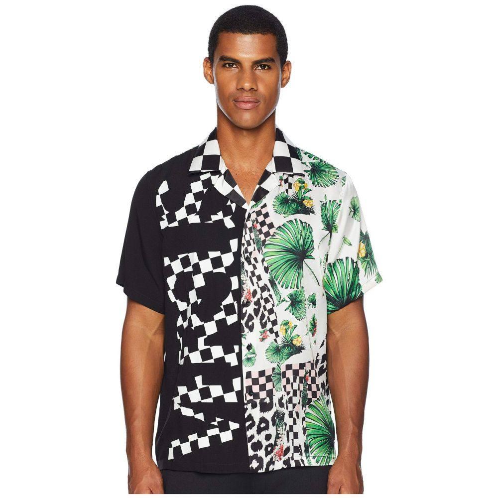 ヴェルサーチ Versus Versace メンズ トップス シャツ【Checkerboard Tropical Button Down】Black