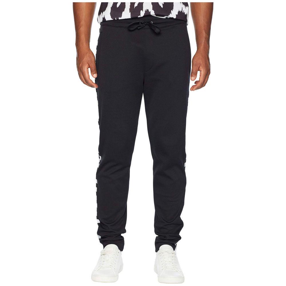 Versace Stripe ジョガーパンツ【Checkerboard ヴェルサーチ ボトムス・パンツ Versus メンズ Pants】Black Jogger