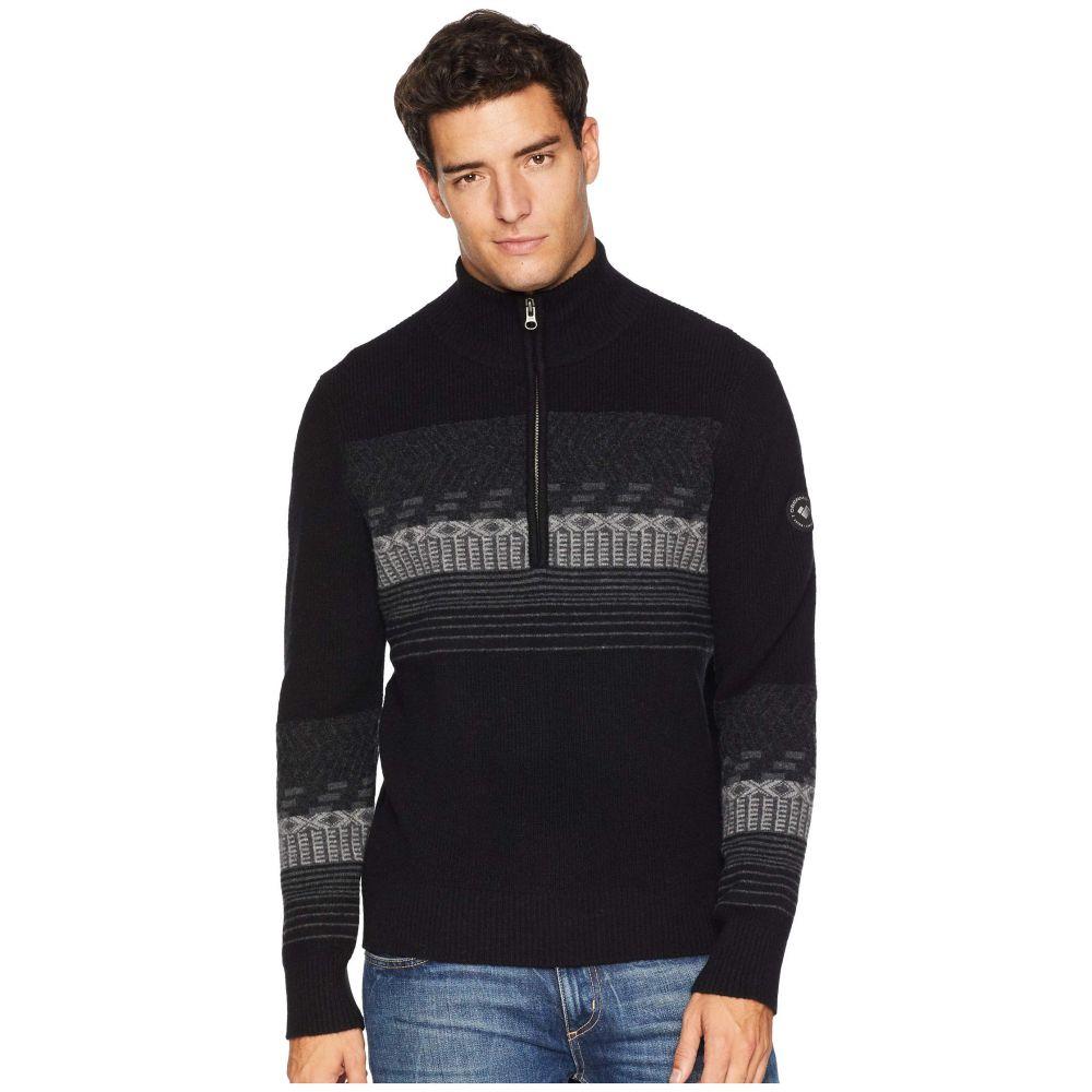 オバマイヤー Obermeyer メンズ トップス ニット・セーター【Textured 1/2 Zip Sweater】Black