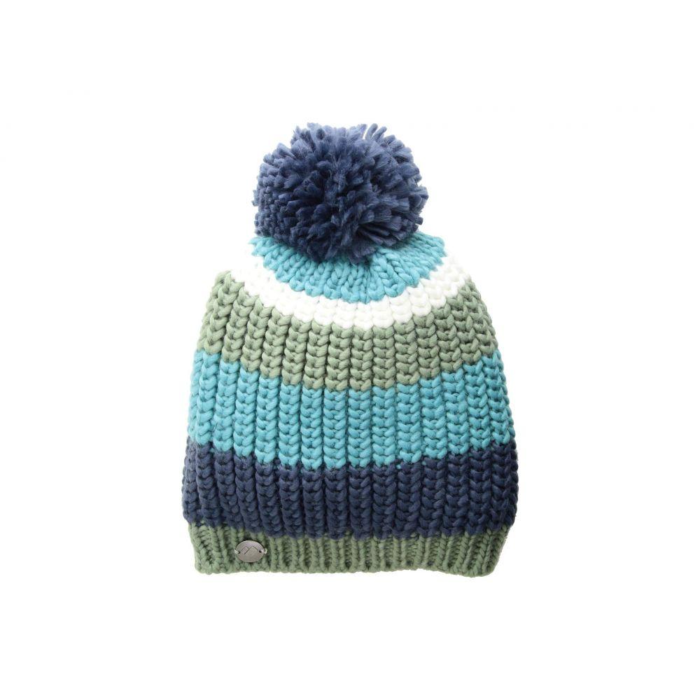 オバマイヤー Obermeyer レディース 帽子 ニット【Stripe Pom Knit Hat】Into The Blue