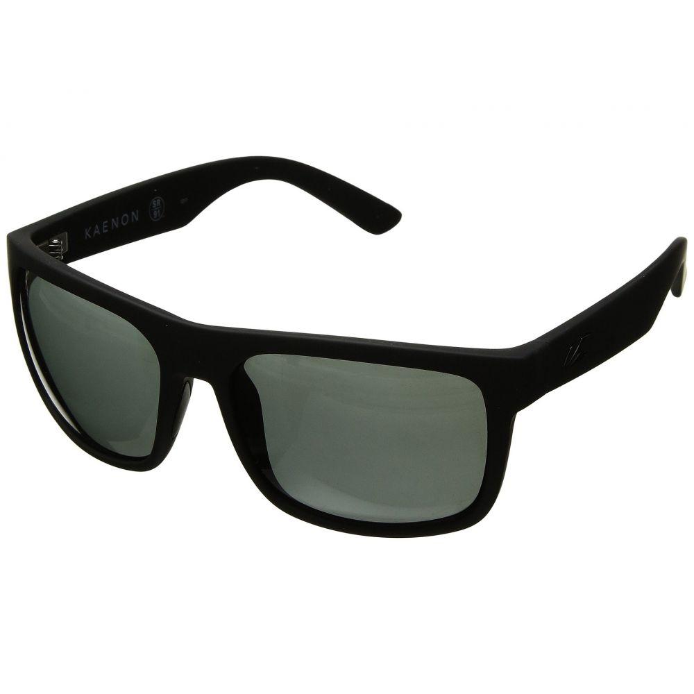 カエノン Kaenon メンズ スポーツサングラス【Burnet Xl】Black Matte Grip Ultra Grey -Polarized