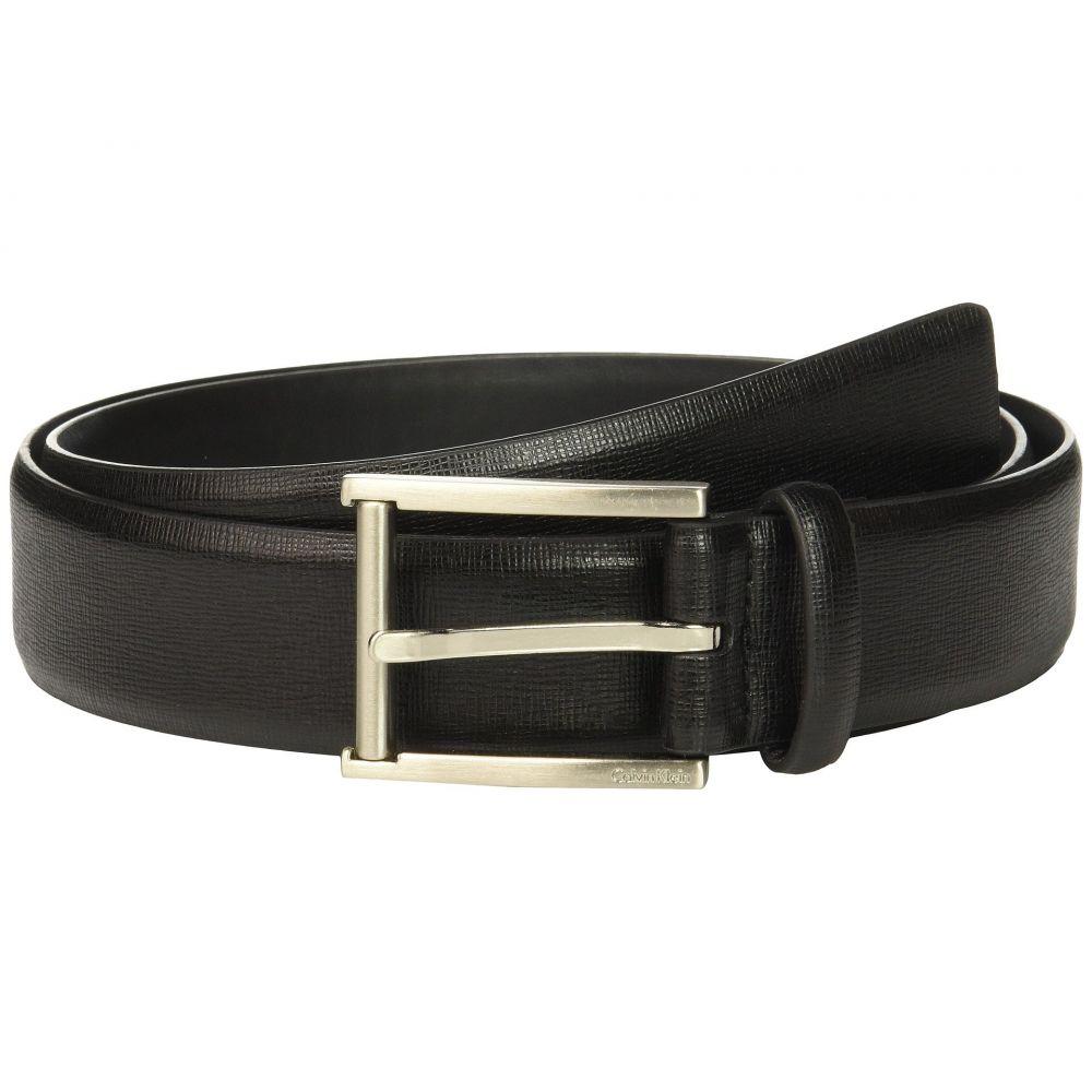 カルバンクライン Calvin Klein メンズ ベルト【35mm Belt w/ Roller Bar Harness Buckle】Black