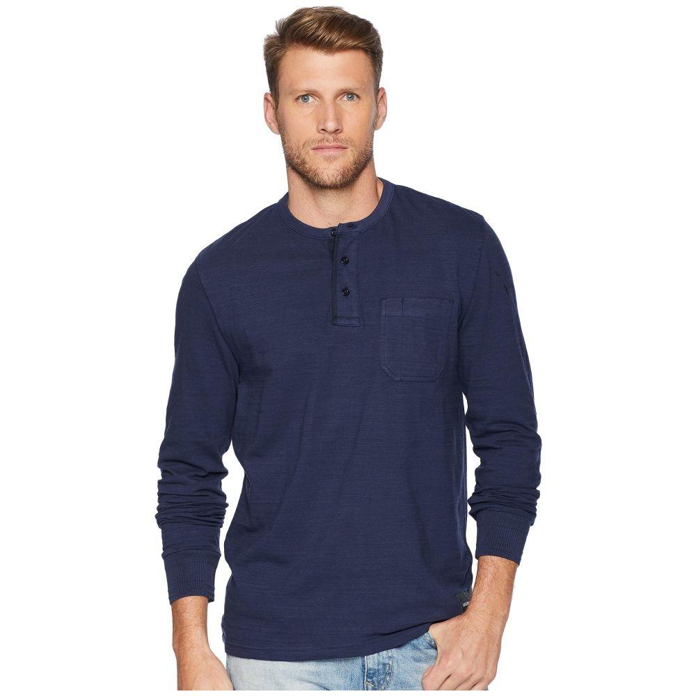 カルバンクライン Calvin Klein Jeans メンズ トップス 長袖Tシャツ【Long Sleeve Baseball Neck Henley】Black Iris