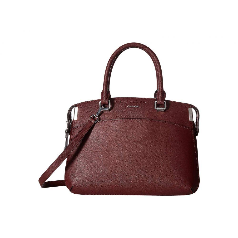 カルバンクライン Calvin Klein レディース バッグ ハンドバッグ【Raelynn Saffiano Leather Satchel】Merlot
