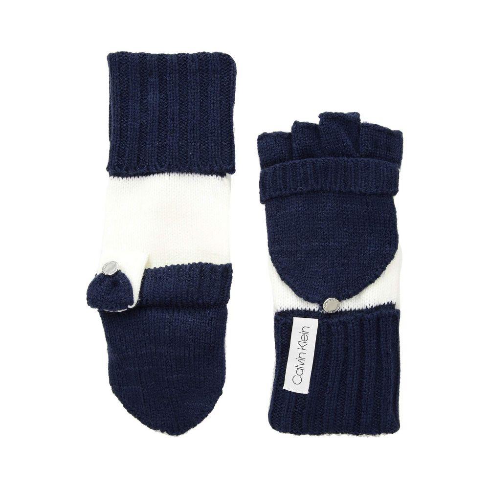 カルバンクライン Calvin Klein レディース 手袋・グローブ【Color Block Flip Top Gloves】Navy