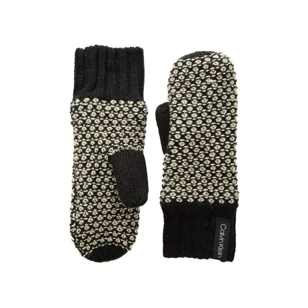 カルバンクライン Calvin Klein レディース 手袋・グローブ【Textured Mitten】Black