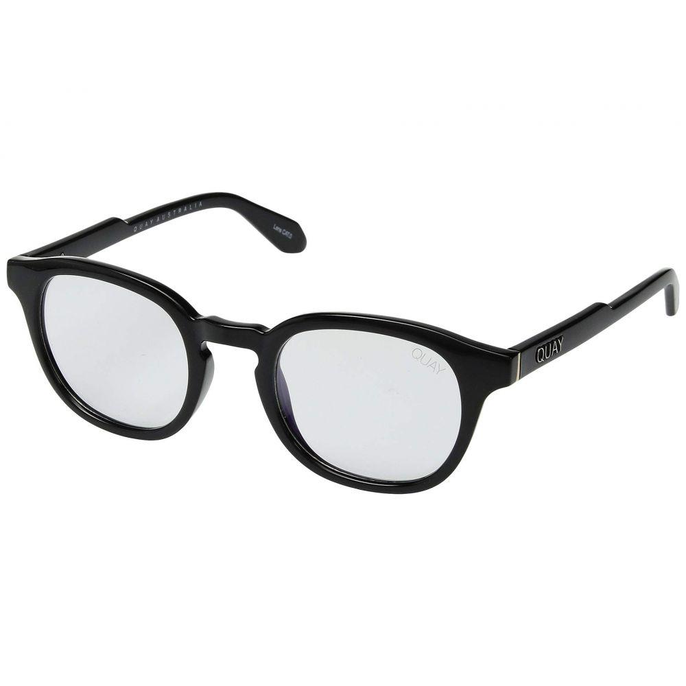 キー オーストラリア QUAY AUSTRALIA レディース メガネ・サングラス【Walk On - Blue Light Glasses】Black/Clear Blue Light