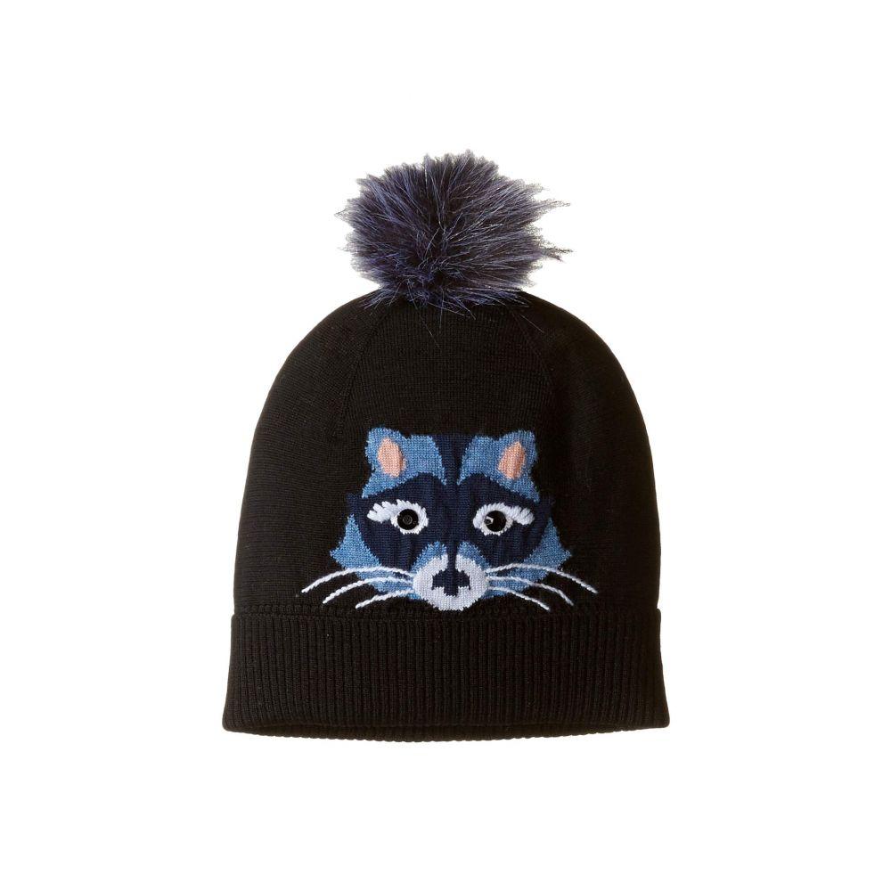 ケイト スペード Kate Spade New York レディース 帽子 ニット【Raccoon Beanie】Black