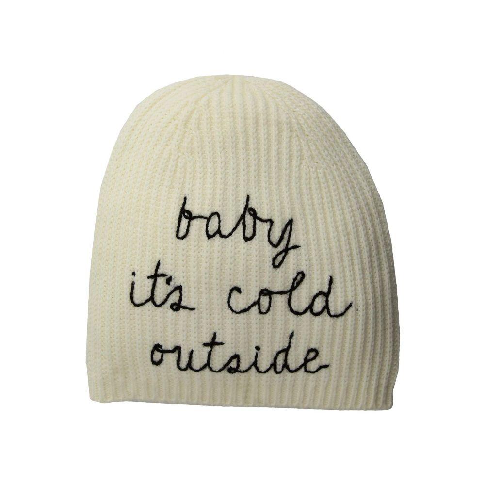 ケイト スペード Kate Spade New York レディース 帽子 ニット【Baby It's Cold Outside Beanie】Cream/Black