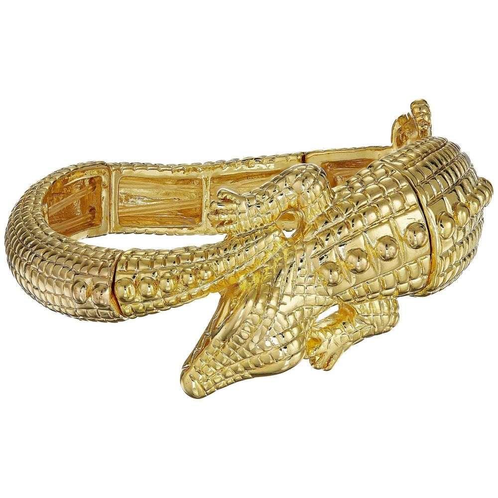 ケネスジェイレーン Kenneth Jay Lane レディース ジュエリー・アクセサリー ブレスレット【Gold Alligator Stretch Bracelet】Gold