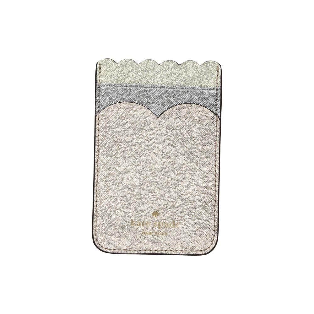 ケイト スペード Kate Spade New York レディース カードケース・名刺入れ【Scallop Triple Sticker Pocket】Rose Gold Multi