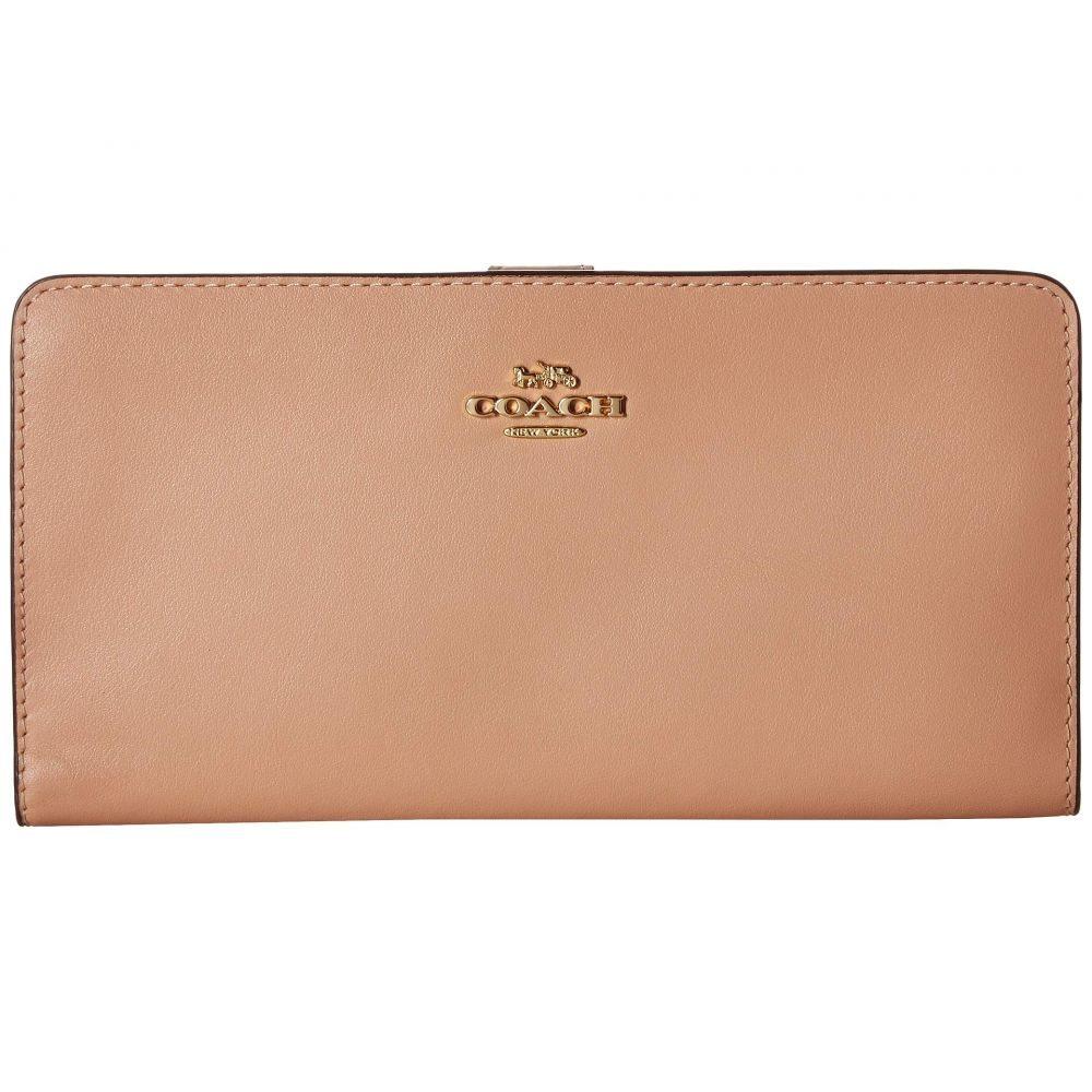 コーチ COACH レディース 財布【Smooth Leather Skinny Wallet】GD/Nude Pink