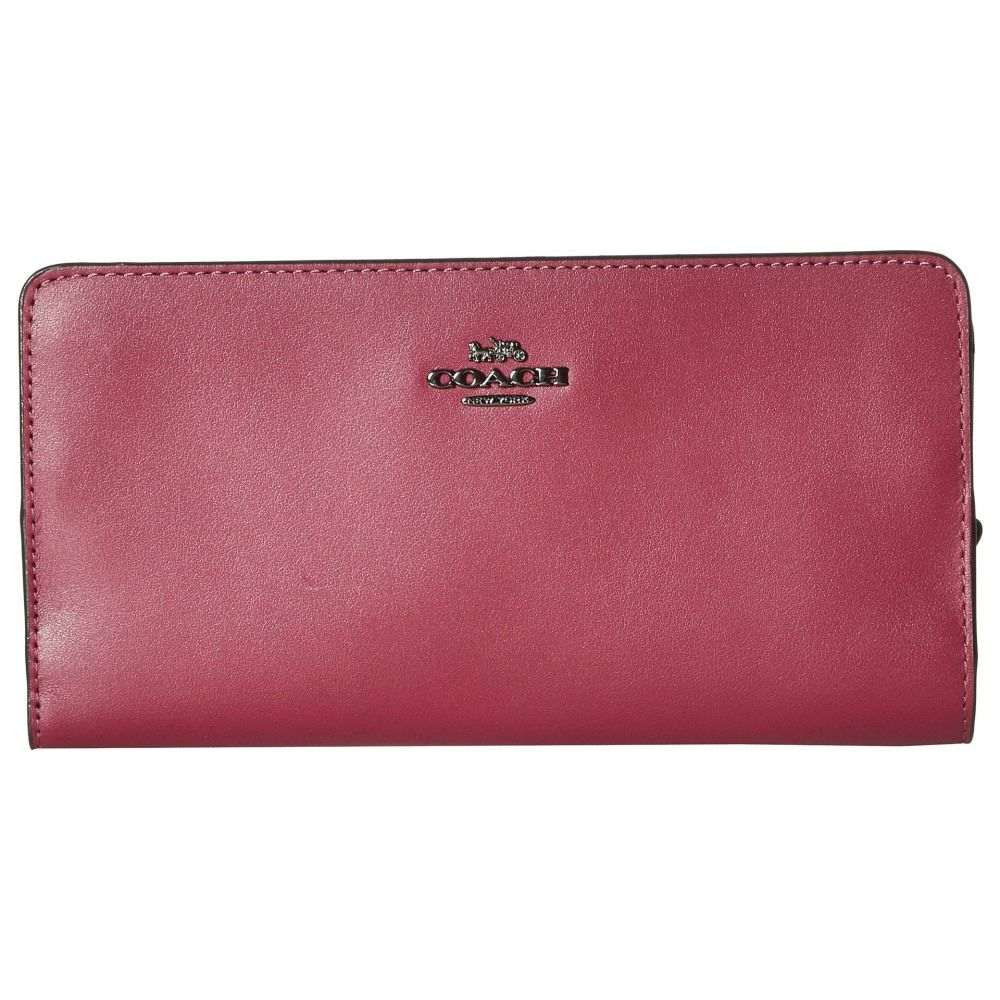 コーチ COACH レディース 財布【Smooth Leather Skinny Wallet】GM/Dark Berry