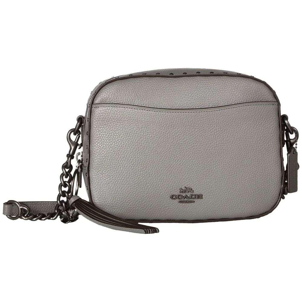 コーチ COACH レディース バッグ【Camera Bag With Rivets】Bp/Heather Grey