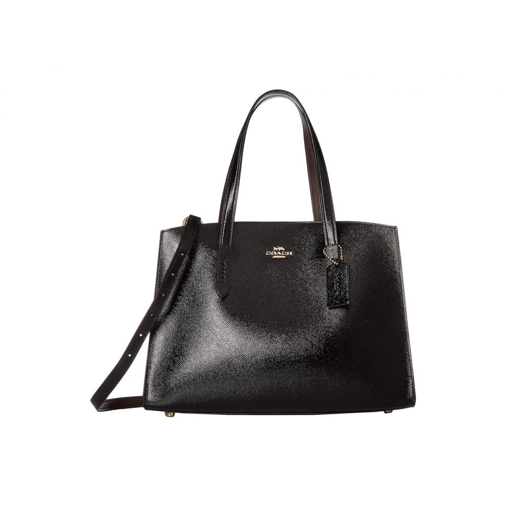 コーチ COACH レディース バッグ ハンドバッグ【Charlie Carryall in Crossgrain Patent Leather】LI/Black