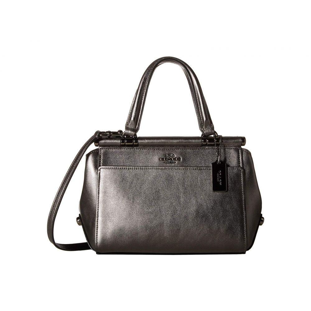 コーチ COACH レディース バッグ ハンドバッグ【Grace 20 Bag in Metallic Leather】DK/Metallic Graphite