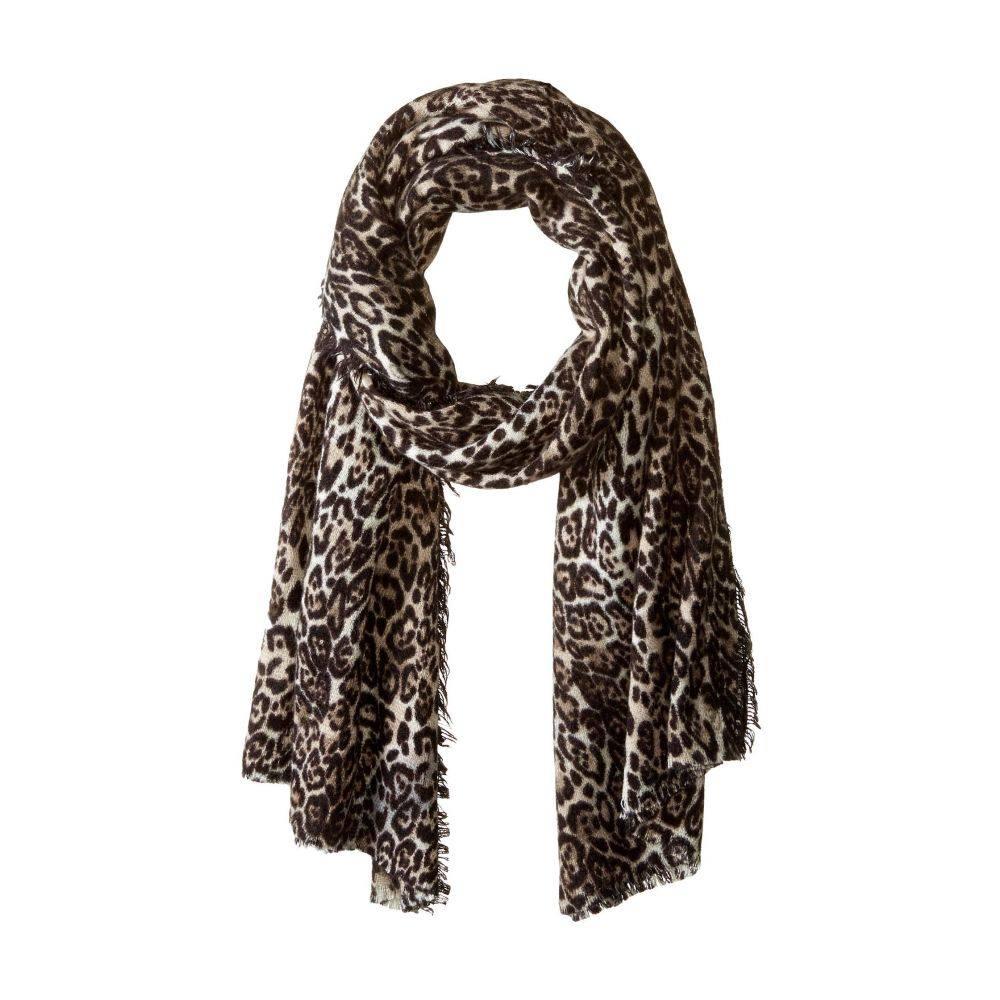 コレクション XIIX Collection XIIX レディース マフラー・スカーフ・ストール【Classic Leopard Blanket Wrap】Grey
