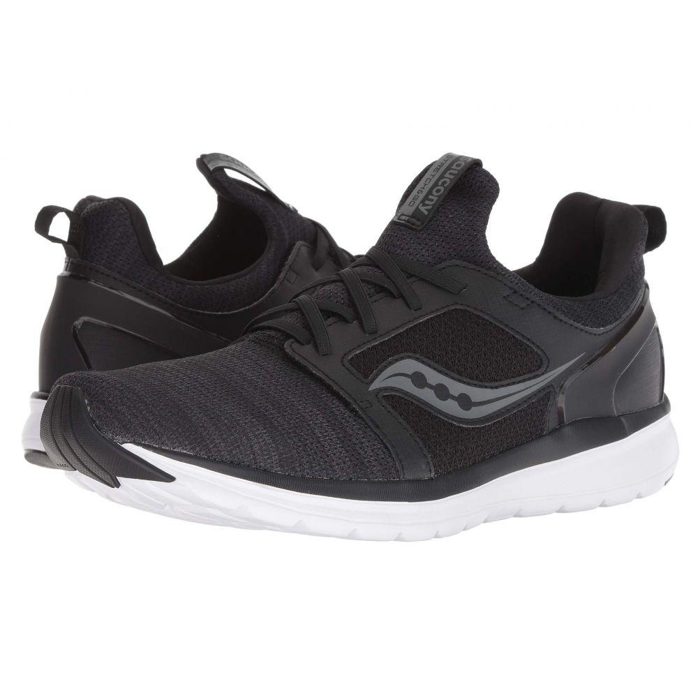 サッカニー Saucony メンズ ランニング・ウォーキング シューズ・靴【Stretch & Go Ease】Black/Charcoal