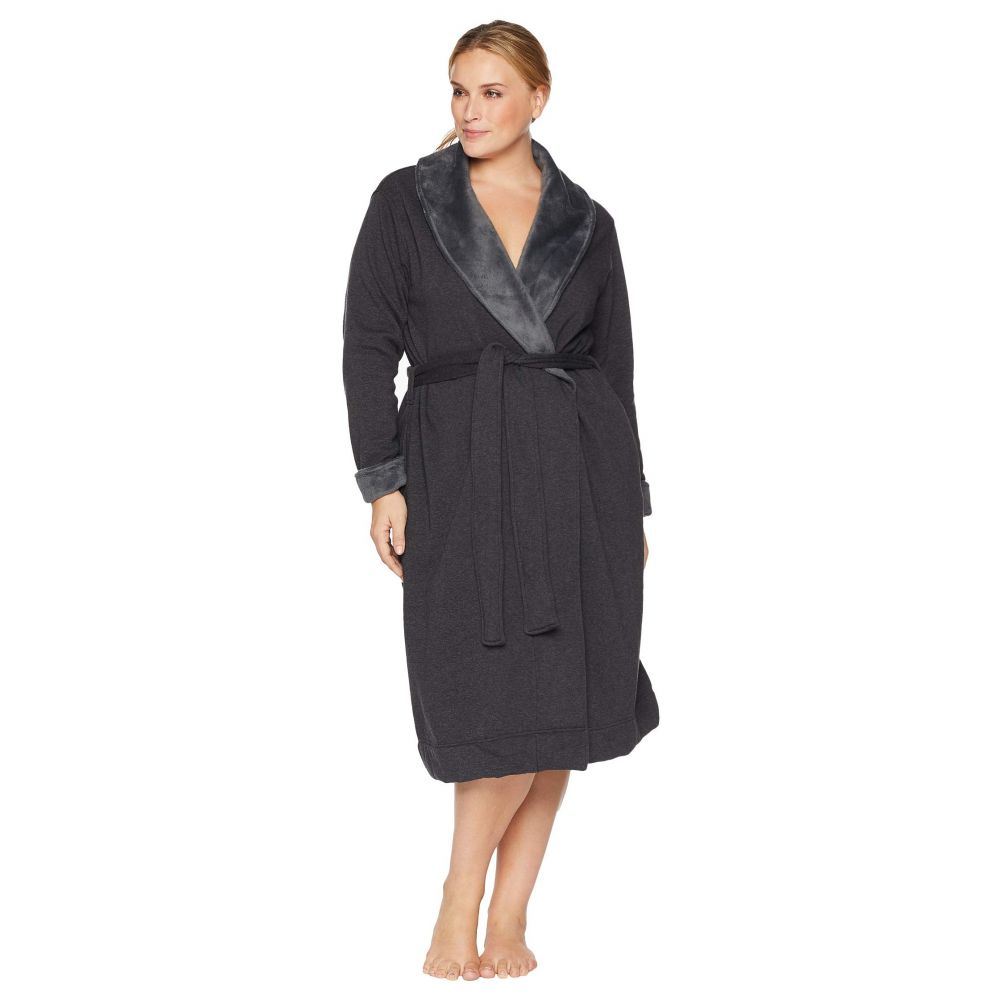 アグ UGG レディース インナー・下着 ガウン・バスローブ【Plus Size Duffield II Robe】Black Bear Heather