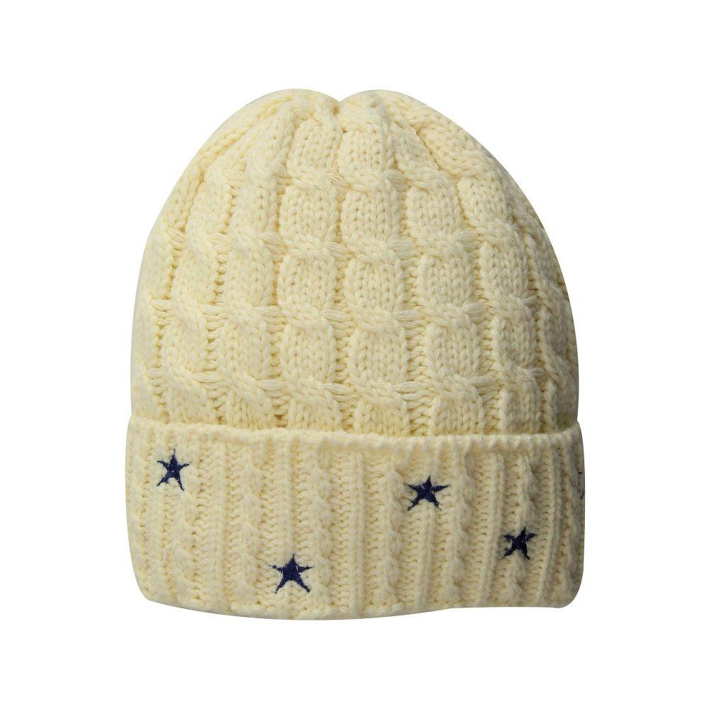 サンディエゴハット San Diego Hat Company レディース 帽子 ニット【KNH3588 Cable Knit Beanie with Star Embroidery】Ivory