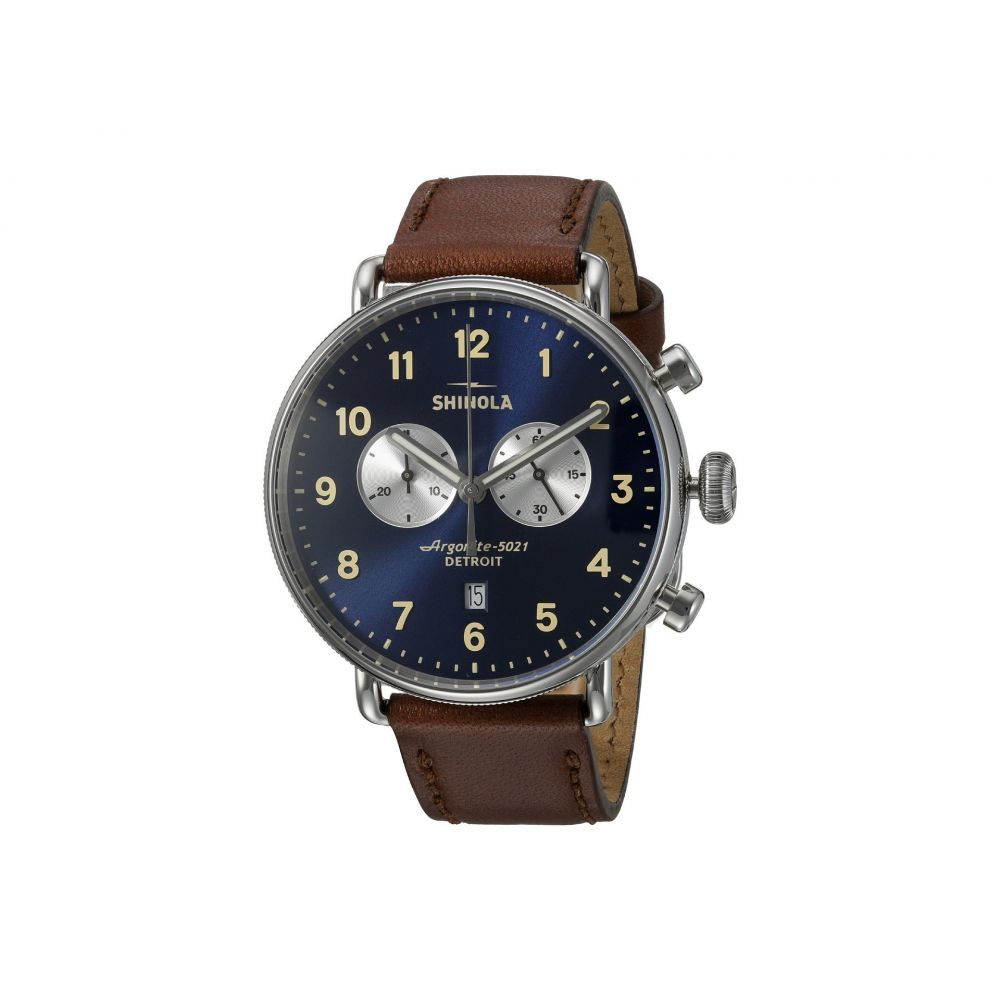 シャイノーラ Shinola Detroit メンズ 腕時計【The Canfield 43mm - 20001940】Midnight Blue/Dark Cognac