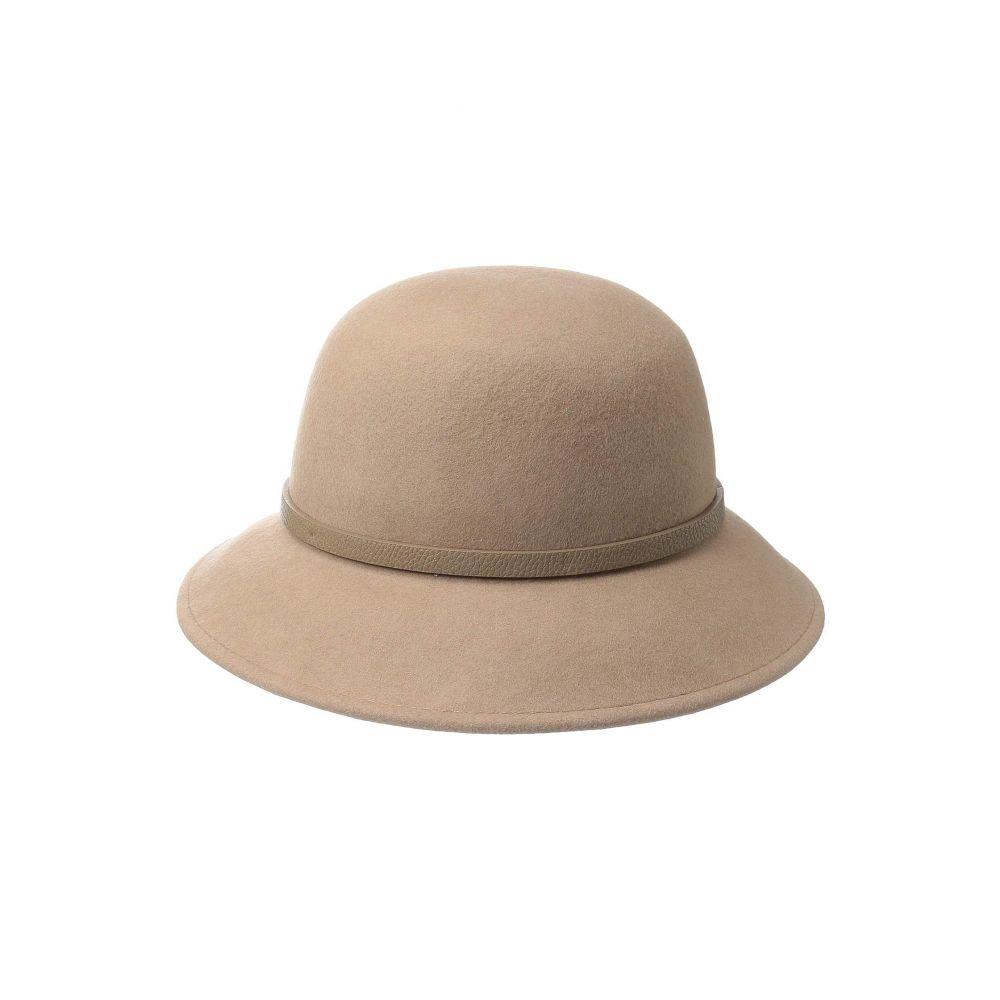 スカラ SCALA レディース 帽子 ハット【Wool Felt Lamp with Faux Leather】Camel