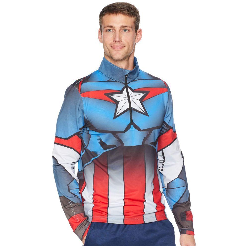 スパイダー Spyder メンズ トップス【Marvel Tech 1/4 Zip】French Blue/Captain