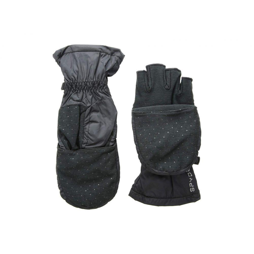 スパイダー Spyder レディース スキー・スノーボード グローブ【Solitude Convertible Mitten】Black/Black
