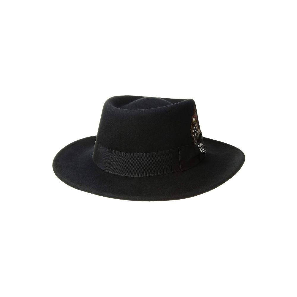 ステイシー アダムス Stacy Adams メンズ 帽子 ハット【Crushable Wool Felt Gambler】Black