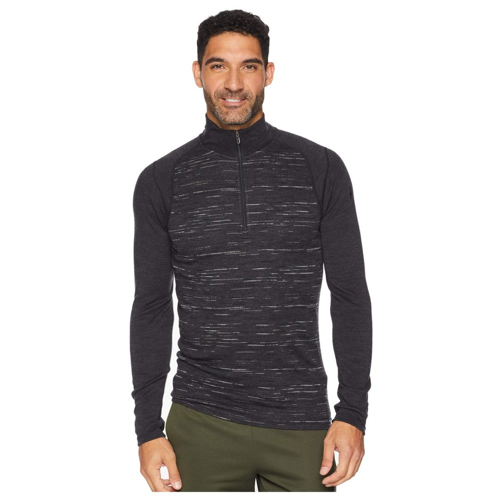 スマートウール Smartwool メンズ トップス Tシャツ【NTS Mid 250 Pattern Zip T】Charcoal/Black