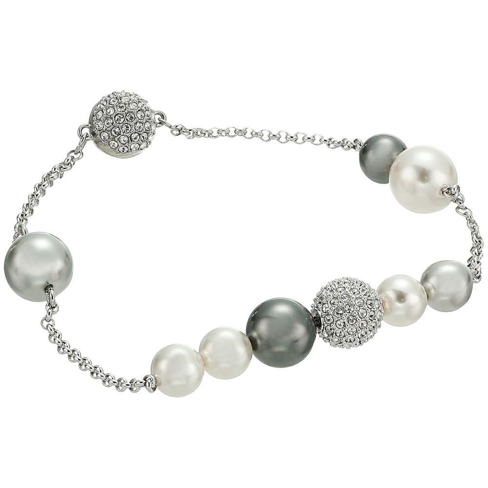 スワロフスキー Swarovski レディース ジュエリー・アクセサリー ブレスレット【Remix Collection Mixed Gray Crystal Pearl Bracelet】Dark Multi