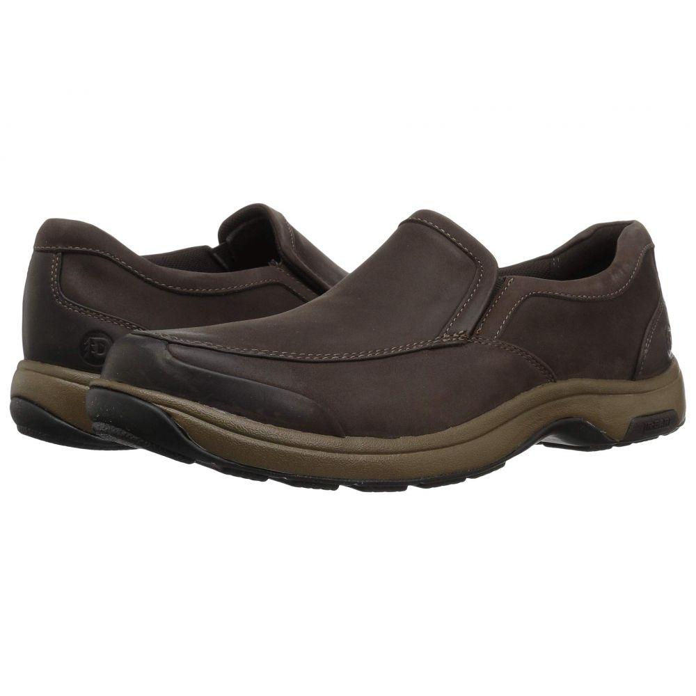 ダナム Dunham メンズ シューズ・靴 スリッポン・フラット【Battery Park Slip-On】Brown Nubuck