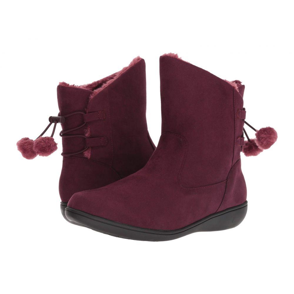 ソフトスタイル Soft Style レディース シューズ・靴 ブーツ【Jazzy】Bordeaux Faux Suede