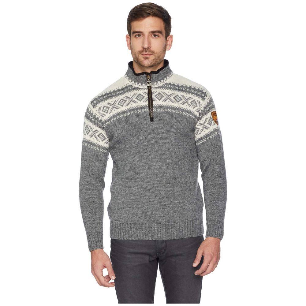ダーレ オブ ノルウェイ Dale of Norway メンズ トップス ニット・セーター【Cortina 1/2 Zip Sweater】E-Smoke/Off-White