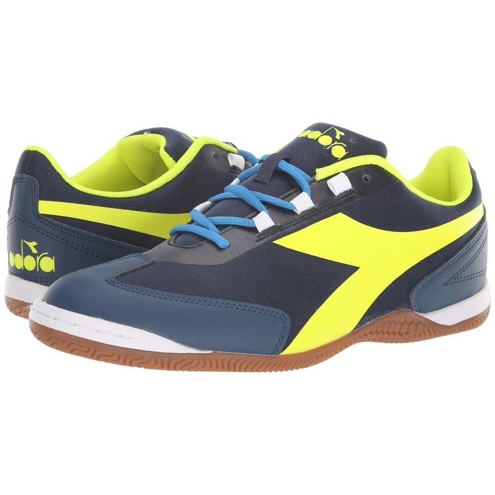 ディアドラ Diadora レディース サッカー シューズ・靴【Futinha ID】Blue Wing Teal/Yellow