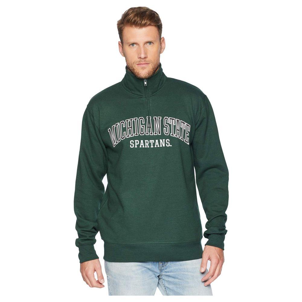 チャンピオン Champion College メンズ トップス【Michigan State Spartans Powerblend 1/4 Zip】Dark Green