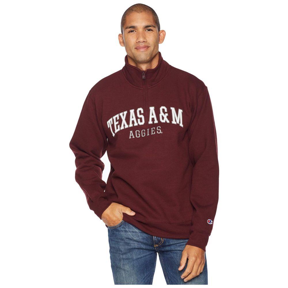 チャンピオン Champion College メンズ トップス【Texas A&M Aggies Powerblend 1/4 Zip】Maroon