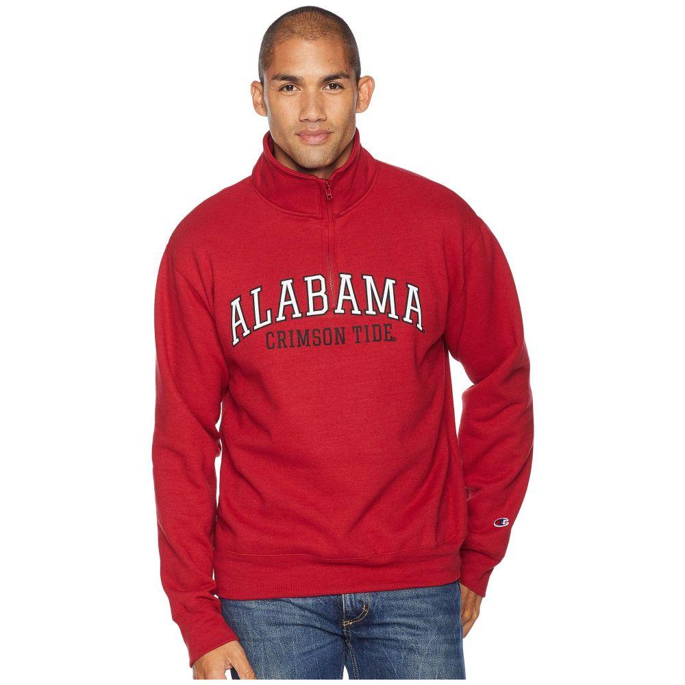 チャンピオン Champion College メンズ トップス【Alabama Crimson Tide Powerblend 1/4 Zip】Cardinal